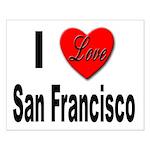 I Love San Francisco Small Poster