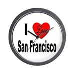 I Love San Francisco Wall Clock