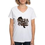Sucka Free Women's V-Neck T-Shirt