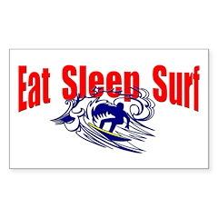 Eat Sleep Surf Rectangle Decal