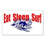Eat Sleep Surf Rectangle Sticker