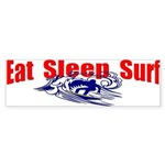 Eat Sleep Surf Bumper Sticker