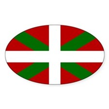 Basque Flag Oval Decal