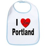 I Love Portland Bib