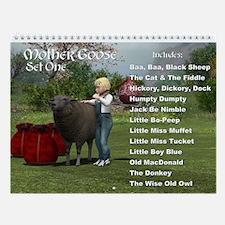 Mother Goose (Set One) Wall Calendar