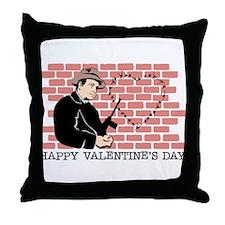 St. Valentine's Day Massacre Throw Pillow
