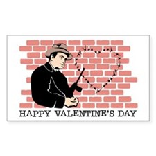 St. Valentine's Day Massacre Rectangle Decal