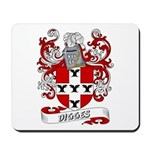Digges Coat of Arms Mousepad