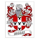 Digges Coat of Arms Small Poster