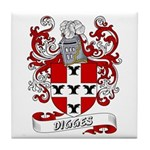 Digges Coat of Arms Tile Coaster