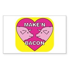 Make'n Bacon Rectangle Decal