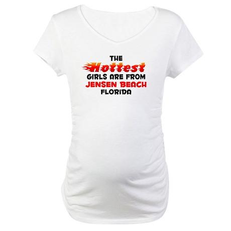 Hot Girls: Jensen Beach, FL Maternity T-Shirt
