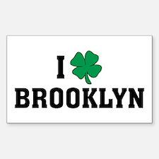 I Shamrock Love Brooklyn Rectangle Decal