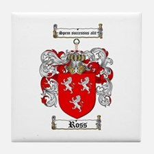 Ross Coat of Arms Tile Coaster