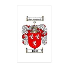 Ross Coat of Arms Rectangle Decal