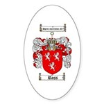 Ross Coat of Arms Oval Sticker
