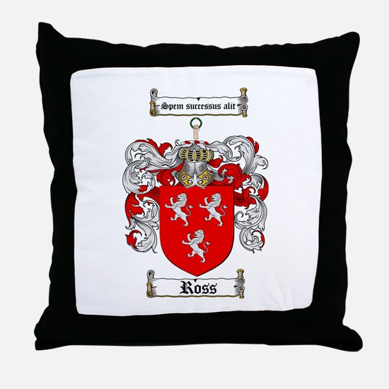 Ross Coat of Arms Throw Pillow
