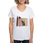 The Big Bad Wolf Women's V-Neck T-Shirt