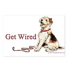 Wire Fox Terrier Dog Walk Postcards (Package of 8)