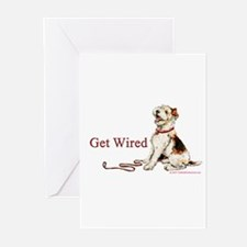 Wire Fox Terrier Dog Walk Greeting Cards (Pk of 10