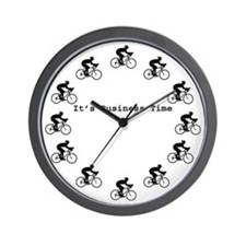 It's Business Time Cycling Wall Clock