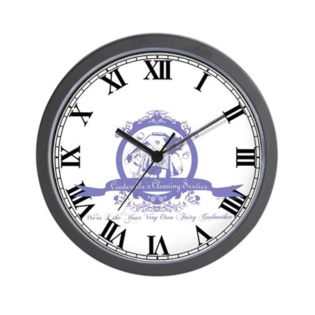 Cinderella's Cleaning Service Wall Clock by princessfair