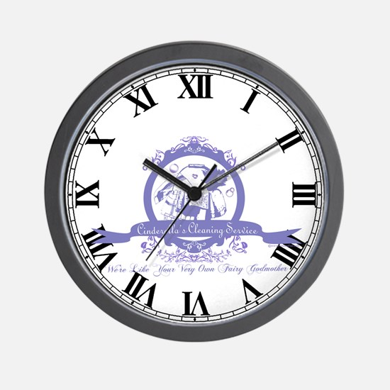 Cinderella's Cleaning Service Wall Clock
