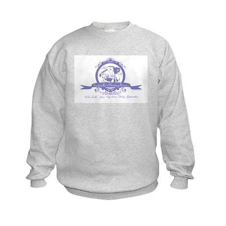 Cinderella's Cleaning Service Kids Sweatshirt