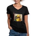 Eggbert Women's V-Neck Dark T-Shirt