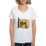Eggbert Women's V-Neck T-Shirt