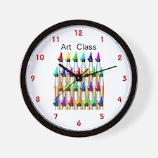 Cute Art in school Wall Clock