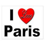 I Love Paris Small Poster