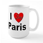 I Love Paris Large Mug