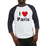 I Love Paris (Front) Baseball Jersey