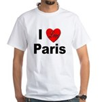 I Love Paris (Front) White T-Shirt