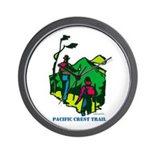 """Pacific Crest Trail Hikers"" Wall Clock"