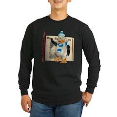 Percy Penguin Long Sleeve Dark T-Shirt