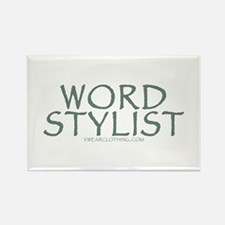 Word Stylist Rectangle Magnet