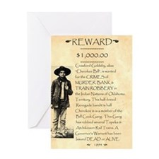 Wanted Cherokee Bill Greeting Card