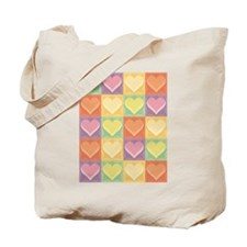 Heart Patchwork Tote Bag