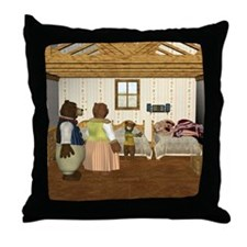 Goldilocks and The Three Bears Throw Pillow