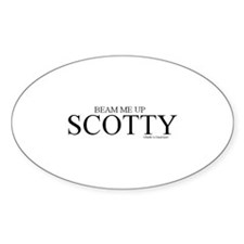 Scotty Oval Decal