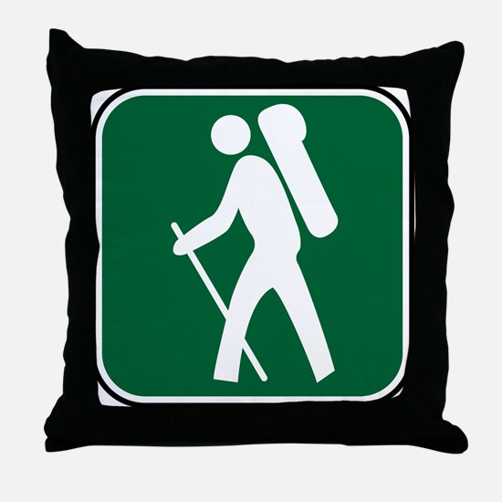 """""""Pacific Crest Trail Hiker"""" Throw Pillow"""