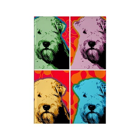 Wheaten Pop Art Rectangle Magnet (100 pack)