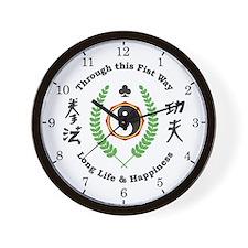 Kajukenbo Crest Wall Clock