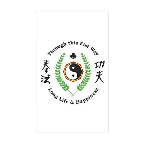 Kajukenbo Crest Rectangle Sticker