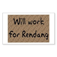 Rendang Rectangle Decal
