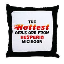 Hot Girls: Hesperia, MI Throw Pillow