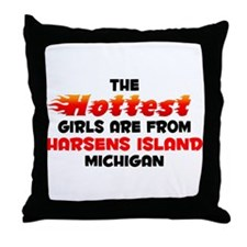 Hot Girls: Harsens Isla, MI Throw Pillow