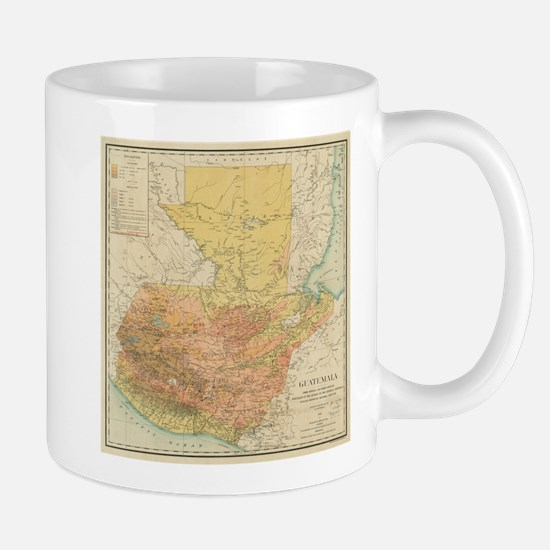 Vintage Map of Guatemala (1902) Mugs